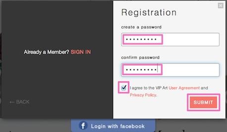 vipart password