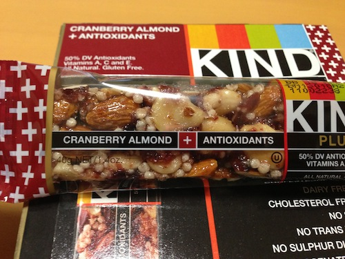 kind healthy snaks cranberry alomnd